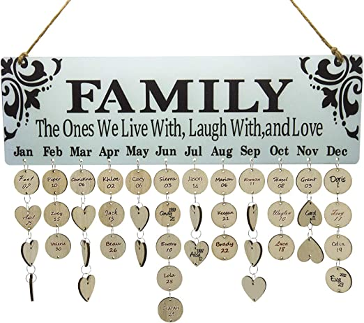 Amazon.com: Family Birthday Board DIY Wooden Birthday Reminder