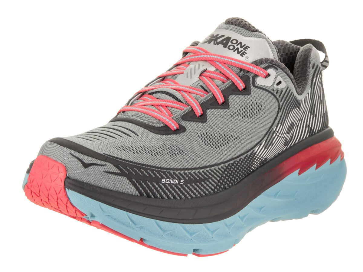 HOKA ONE ONE Women's Bondi 5 Running Shoe B01MQY96NT 9.5 B(M) US|High Rise/ Dubarry