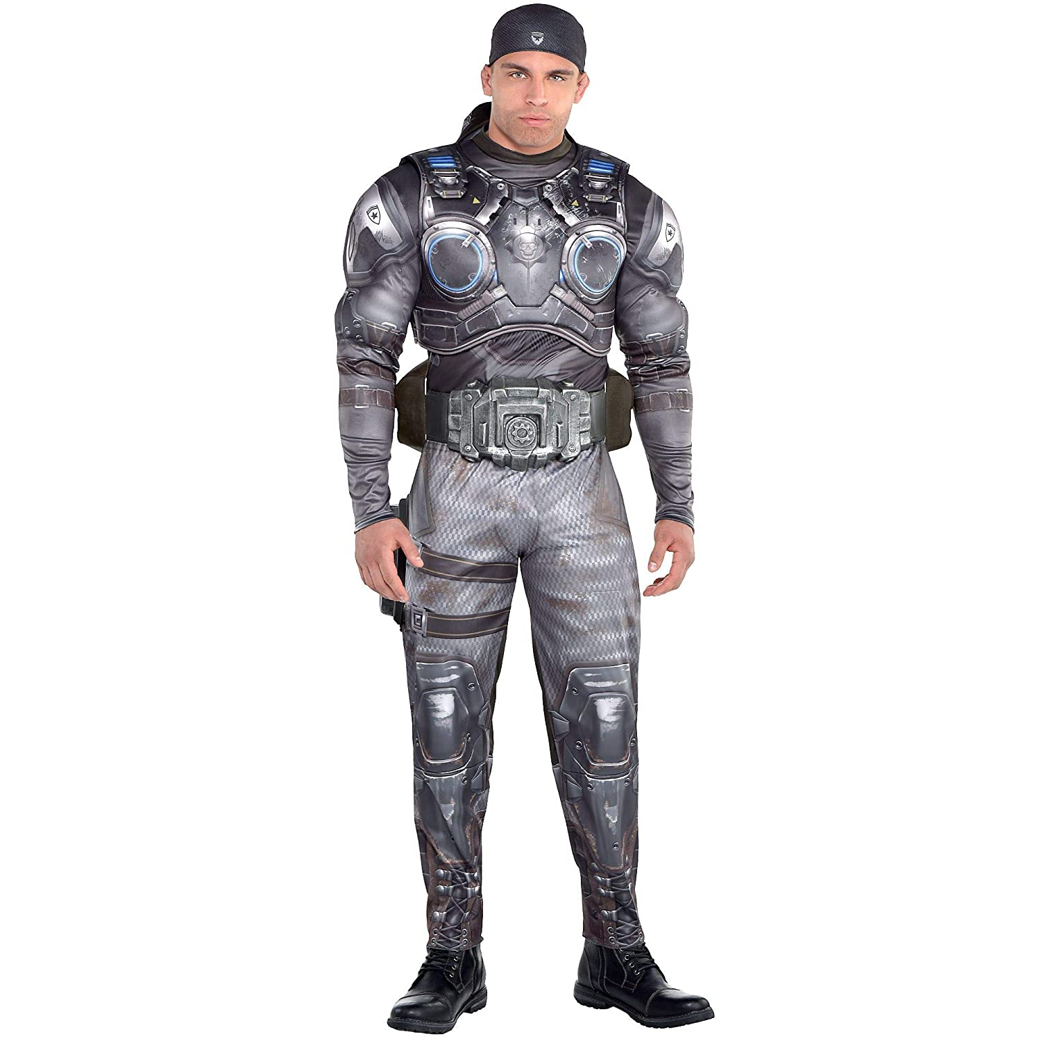 Amazon.com: Party City Marcus Fenix Halloween Muscle Disfraz ...