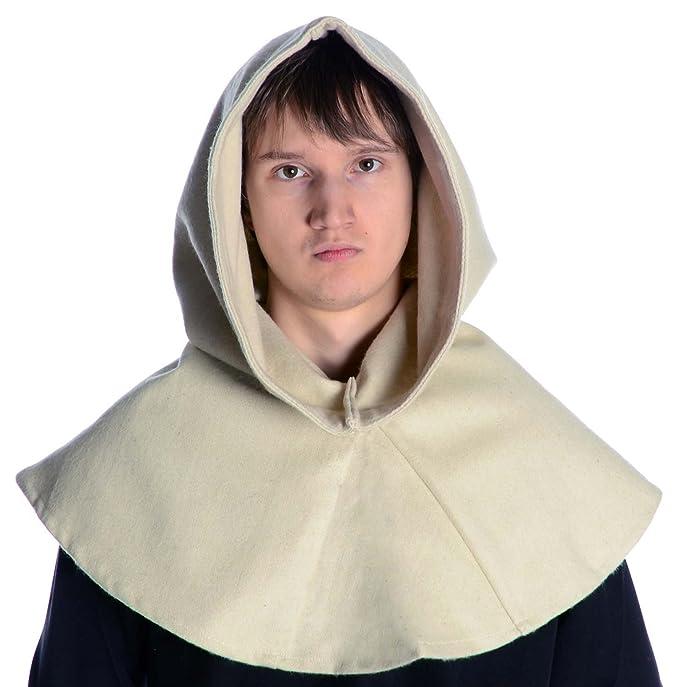 HEMAD Cappuccio medievale - Feltro di Lana - Beige  Amazon.it  Abbigliamento 65b6bc061e1