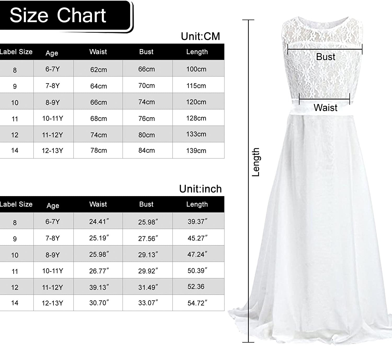 Acecharming Long Junior Bridesmaid Dress Big Girls Elegant Formal Flower Chiffon Maxi Dress Wedding Party Dance Ball Gown