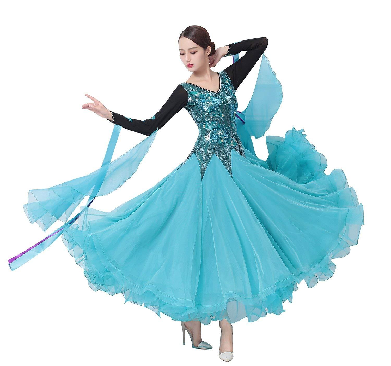 おすすめ garuda garuda レディース社交ダンス衣装 ダンス高級競技ワンピース 上品ワルツドレス 水色 水色 サイズオーダー B07PGGGM7D B07PGGGM7D 画面色,サイズオーダー, シマバラシ:0f672d00 --- a0267596.xsph.ru