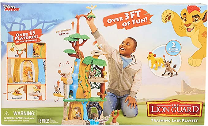 Disney Lion Guard Kids 3ft Training Lair Playset With Lights And Sound Toy New