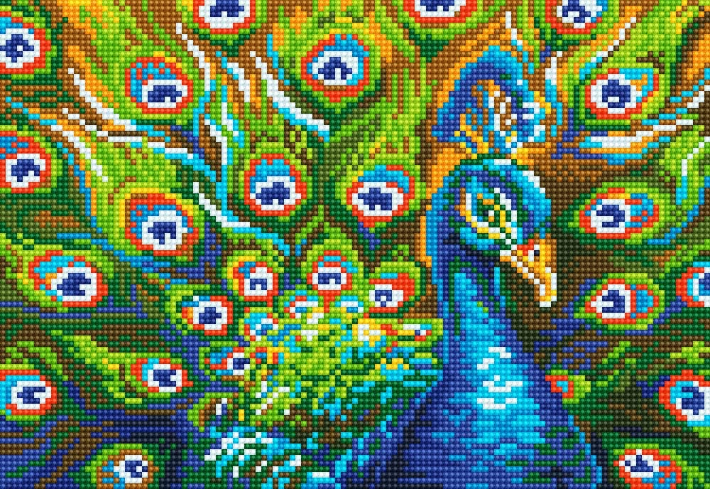 DIY Handwork Store 5D DIY Handmade Full Square Diamond Painting Kits Peacock Cross Stitch Mosaic Embroidery Art Crafts Gift Sewing Kits Needlework Home Decoration 19.7x 15.7