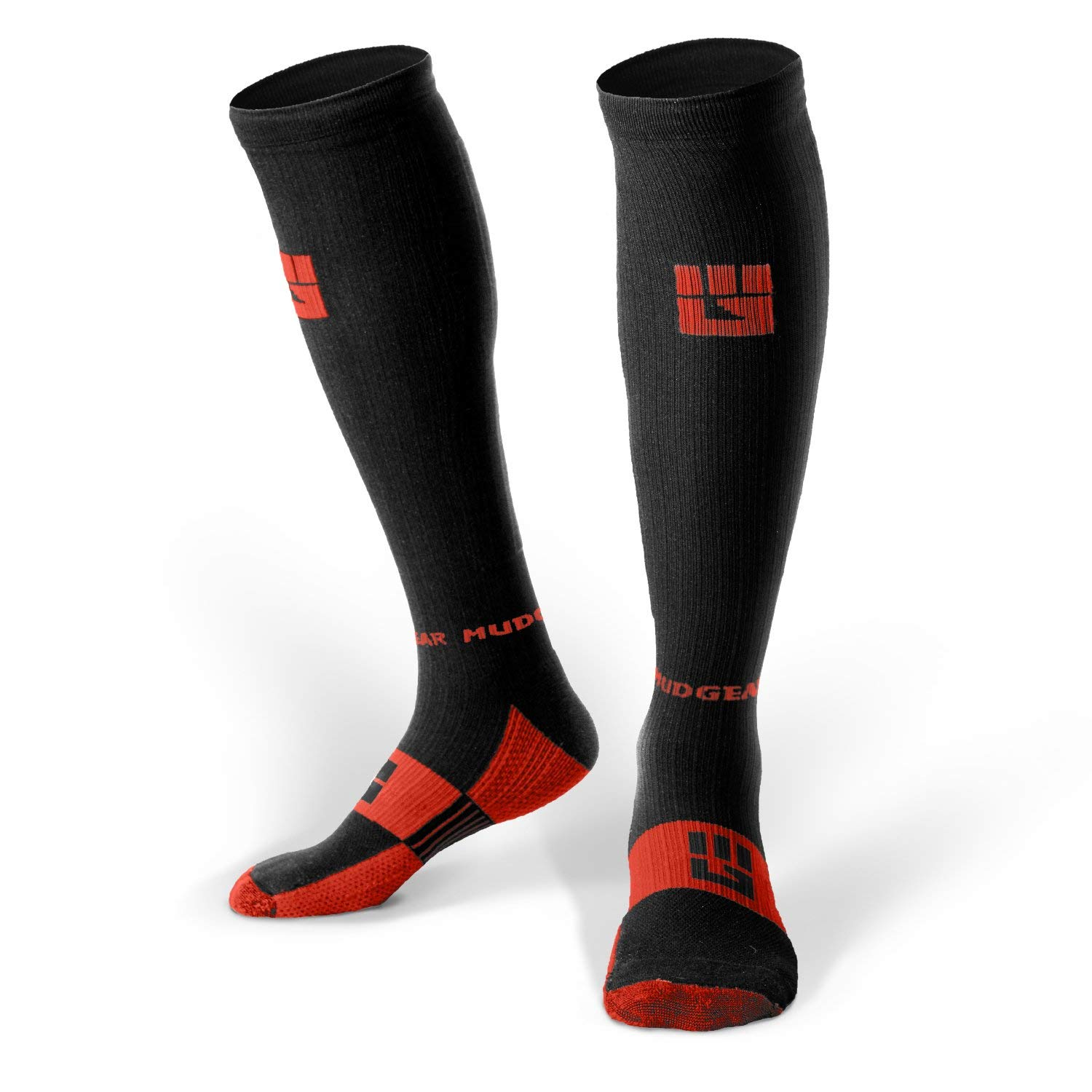 MudGear Premium Compression Socks - Mens & Womens running hiking trail (1 Pair) by MudGear (Image #1)