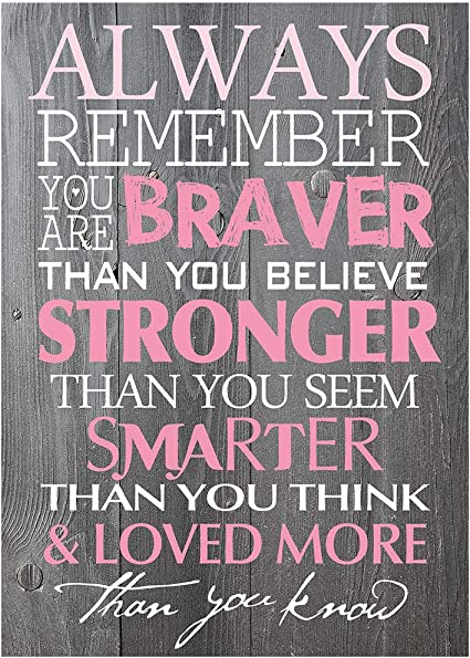 Amazon.com: BEROSS Always Remember You are Braver Than You ...