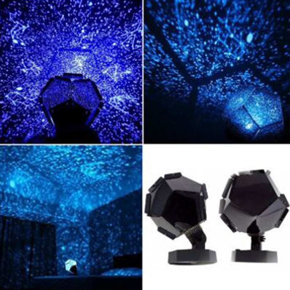 Autoday LED Lights Constellation Celestial Star Galaxy Sky Pattern Projection Projector Outdoor Indoor Yellow Purple Blue Lights for Club Pub Birthday Party Wedding (Blue)