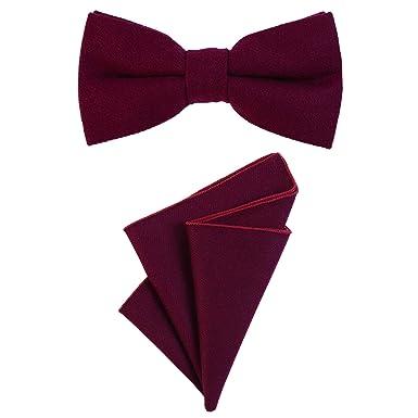 garantie de haute qualité plus gros rabais meilleur prix pour DonDon Hommes noeud papillon 12 x 6 cm lié longueur réglable et mouchoir 23  x 23 x 23 cm couleur coton assorti