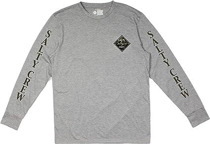 Athletic Heather Salty Crew Tippet Camo Tech LS T-Shirt