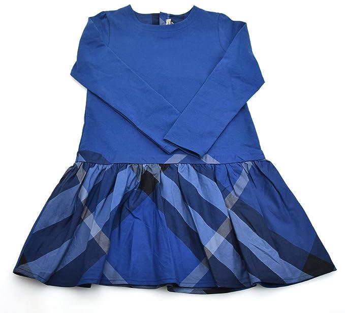 new styles 5851f d3e27 Burberry Abito Bambina Blu con Gonna Scozzese Art. B02571 ...