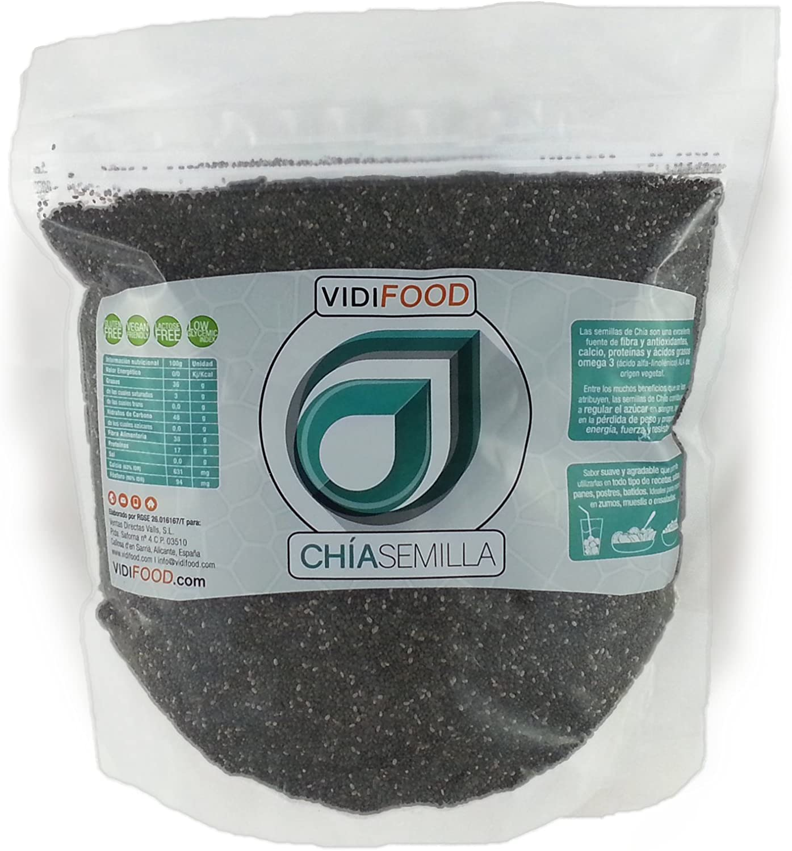 Semillas de Chía Naturales - 2 x 1 kg - Alta Calidad - Fuente Rica de Omega-3, Fibra y Proteínas - Completamente Natural, Sin Toxinas - Adecuado para Veganos.: Amazon.es: Alimentación y bebidas