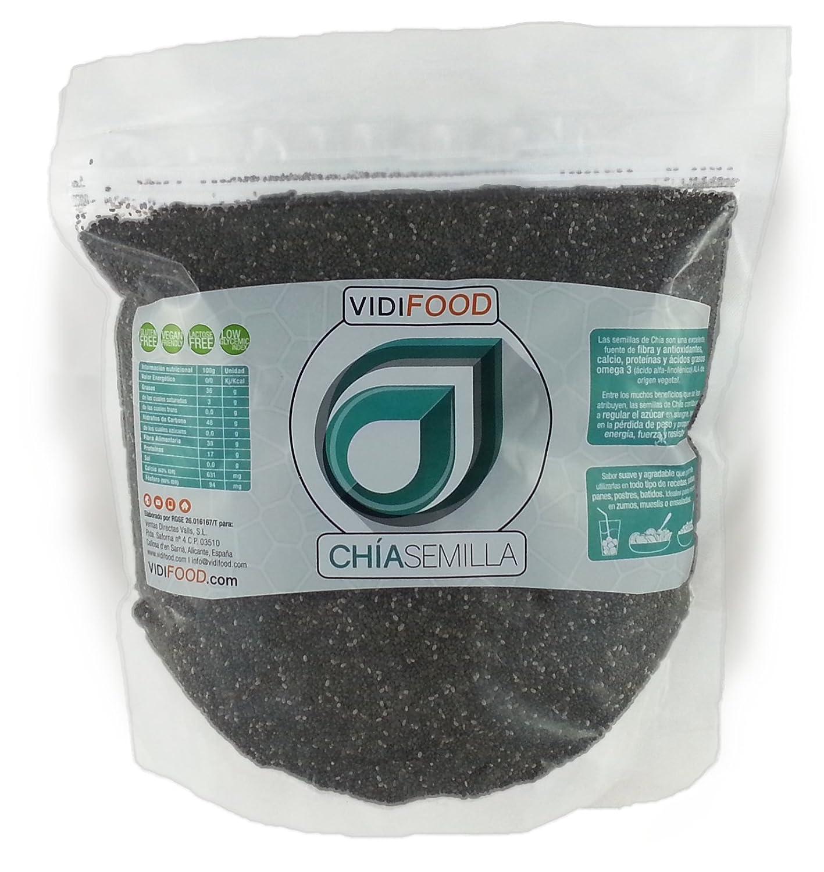 Semillas de Chía Naturales - 1 kg - Alta Calidad - Fuente Rica de Omega-3, Fibra y Proteínas - Completamente Natural, Sin Toxinas - Adecuado para Veganos.