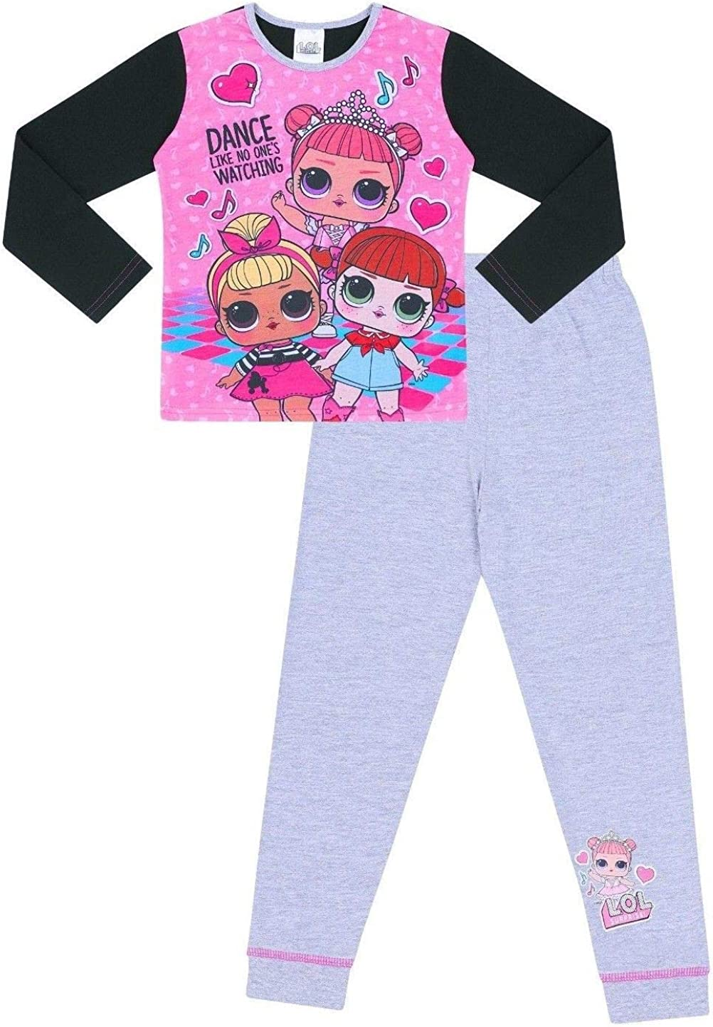 LOL Surprise Dolls - Pijama para niñas (6 a 12 años), color rosa y gris