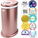 Ubbi Limited Edition, Money Saving, No Special Bag Required, Steel Odor Locking Diaper Pail, Rose Gold
