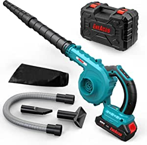 Cordless Leaf Blower, ENEACRO 30000RPM 20V 2AH Handheld 2 in 1 for Sweeper & Vacuum Leaf/Corner/Dust, 5 Variable Speed Lightweight with Battery, Fast Charger & Carry Case