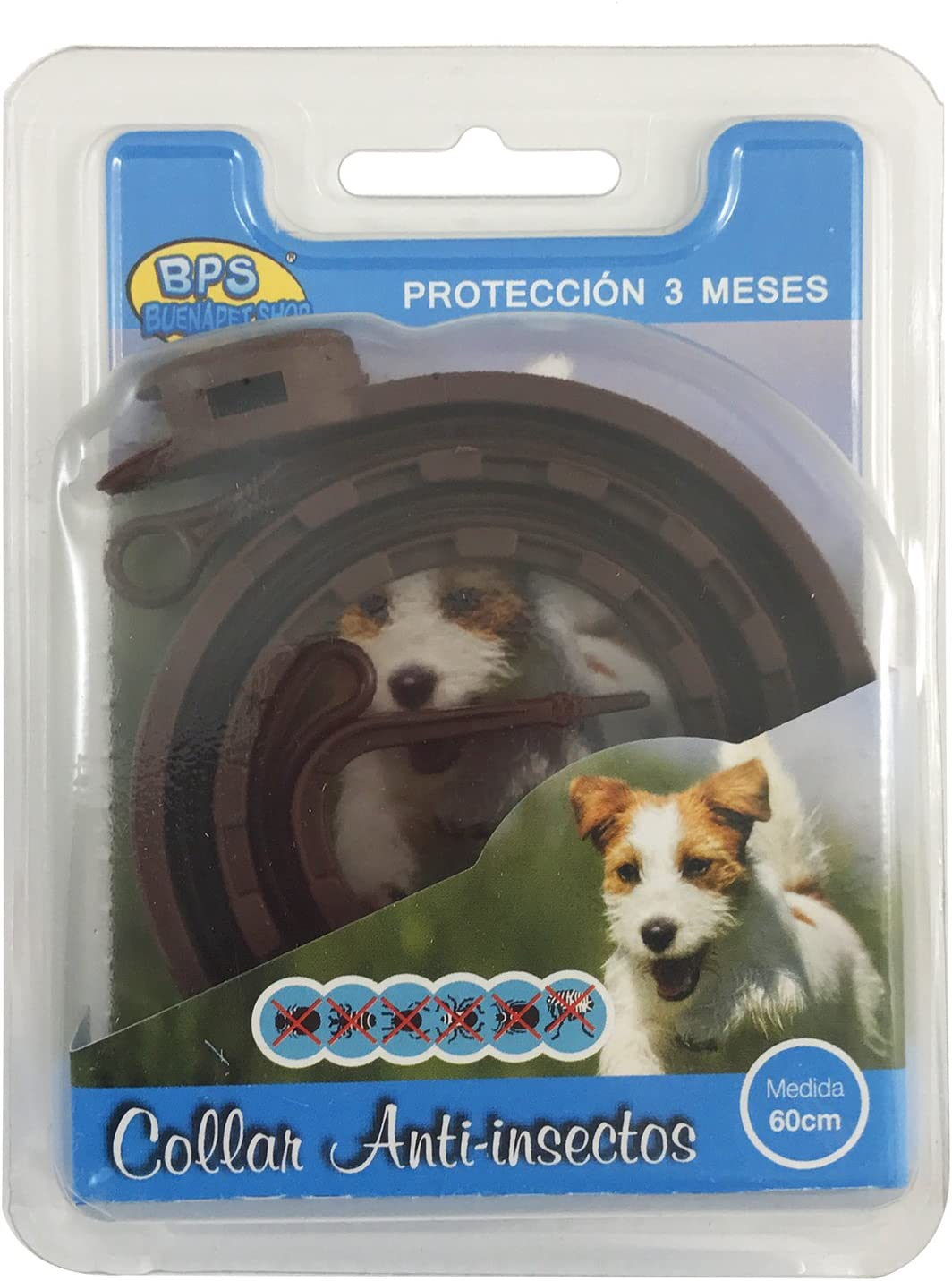 BPS® Collar Antiparasitario para Mascotas Perros/Gatos Antipulgas ...
