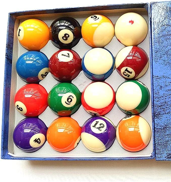 WXS Juego de Bolas de Billar de Mesa de Billar Juego Completo de 16 Bolas, 2 1/4 Pulgadas: Amazon.es: Deportes y aire libre