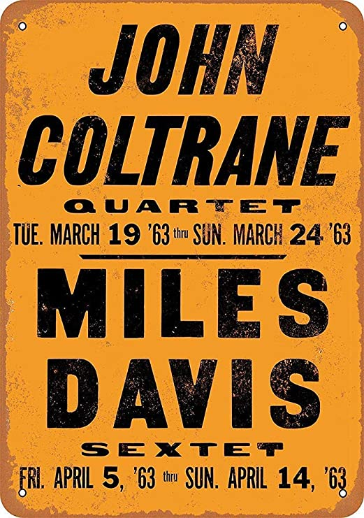 HiSign John Coltrane & Miles Davis In La Retro Cartel de ...