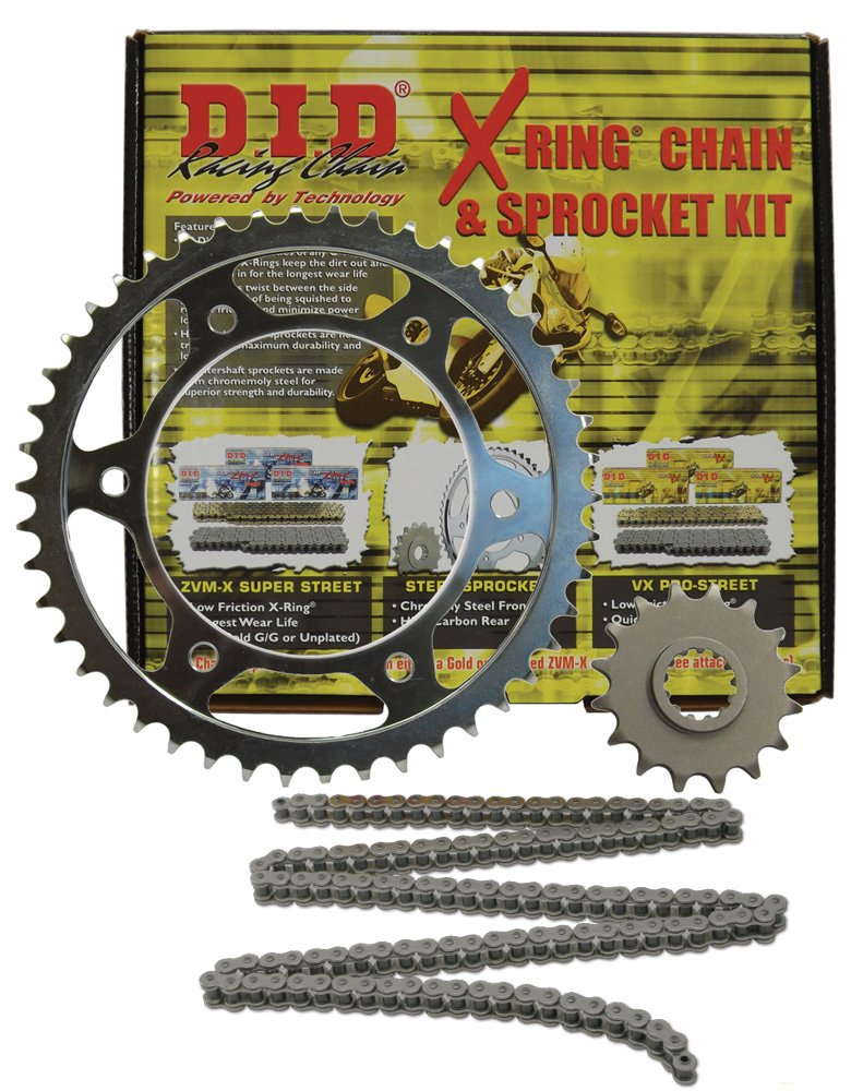 D.I.D (DKY-011) 520VX2 Steel Chain and 16 Front/46 Rear Tooth Sprocket Kit
