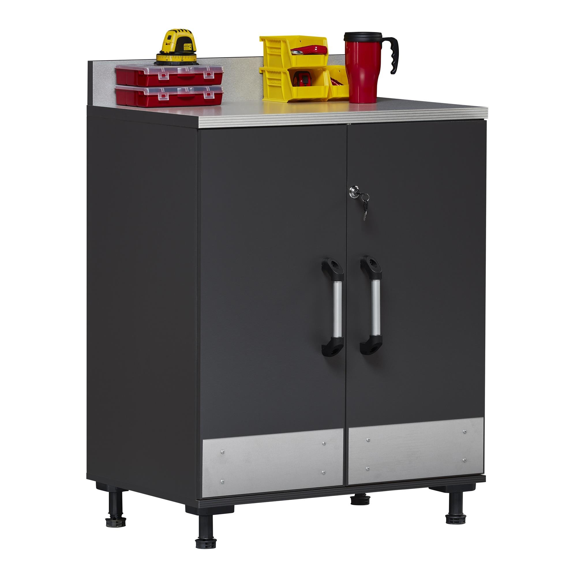 Ameriwood Home Boss -Base Cabinet 2 Door, Charcoal Gray by Ameriwood Home (Image #18)