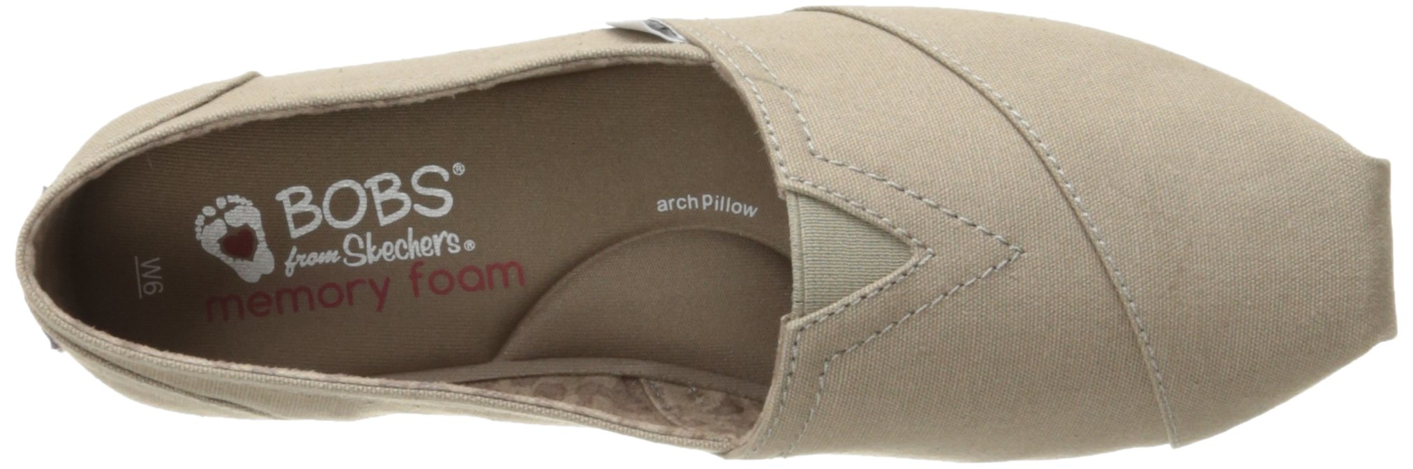 Skechers BOBS Women's Plush-Peace and Love Flat, Taupe, 8.5 W US by Skechers (Image #8)