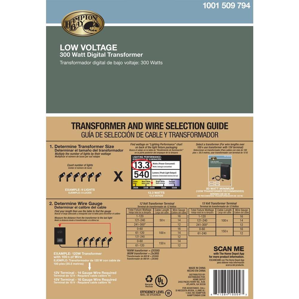 Awesome Hampton Bay Low Voltage Transformer Manual