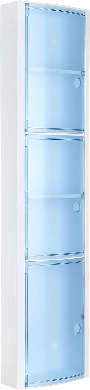 Tatay - Armario de Baño Vertical de Pared Hecho de Plástico Polipropileno. Fácil Fijación, Apto para Sistema Adhesivo Glue & Fix. Medidas (L x An x Al) 22 x 10 x 90,5 cm. Color Azul