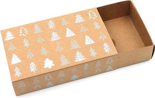 Heku Caja Regalo Navidad ~ con Efecto metálico, cartón en diseño ...