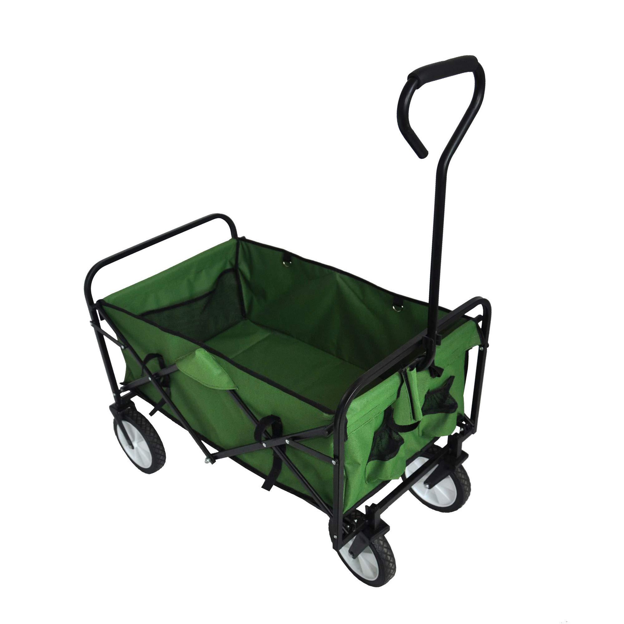 BHW Folding Wagon Garden Shopping Beach Cart Mac Sports Collapsible Folding Outdoor Utility Wagon by BHW
