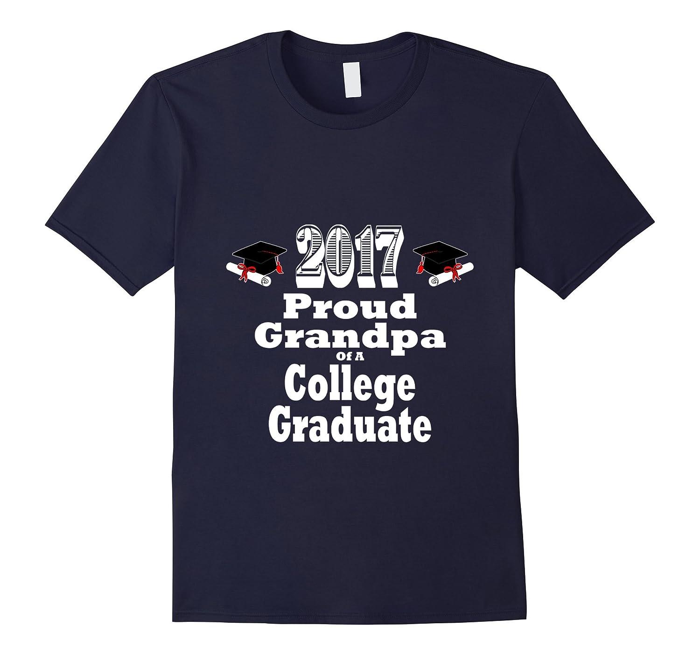 2017 College Graduation Tshirt Proud Grandpa Graduate Child-RT