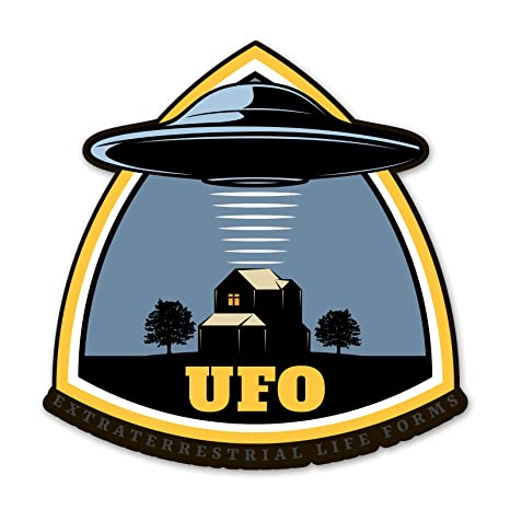 Amazon.com: Ninja Pickle Space Badge UFO Extraterrestrial ...