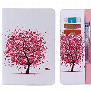 LEMORRY Samsung Galaxy Tap4 7.0 Case Leather Flip Wallet Pouch Slim Fit Bumper Protection Magnetic Strap Stand Card Slot Soft TPU Cover for Galaxy Tap 4 (7.0