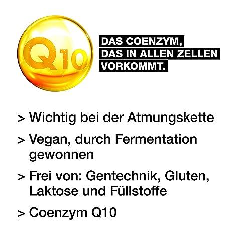 Coenzima Q10 Ubichinon 200 mg - 120 Cápsulas veganas - Dosis alta - Energía, Resistencia, Piel joven y saludable - Sistema cardiovascular - Nervios - ...