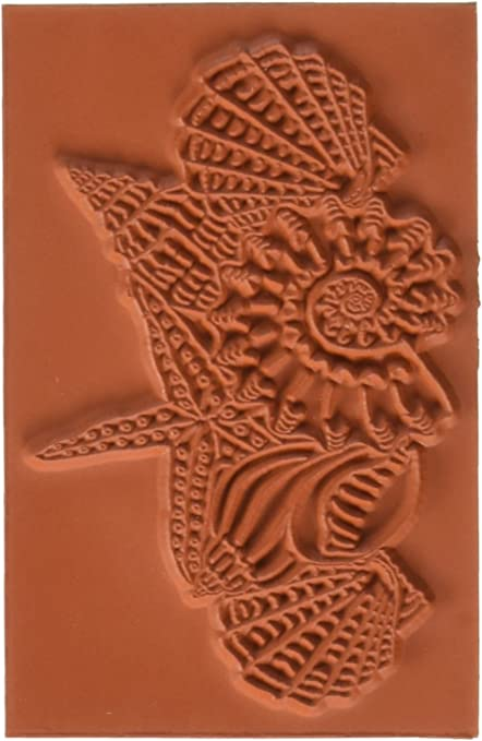 Deep Red Seashell Collection Rubber Cling Stamp JPS Digital 4x605150
