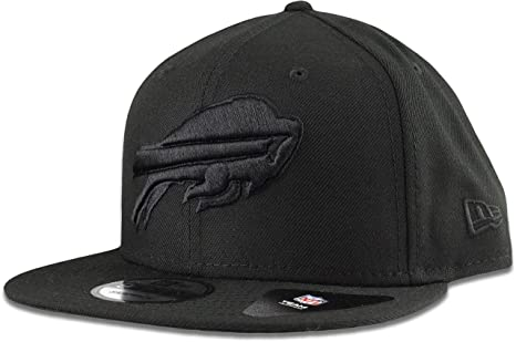 5777e7c237a Image Unavailable. Image not available for. Color  New Era Buffalo Bills Hat  NFL Black on Black 9FIFTY Snapback Adjustable Cap Adult One Size