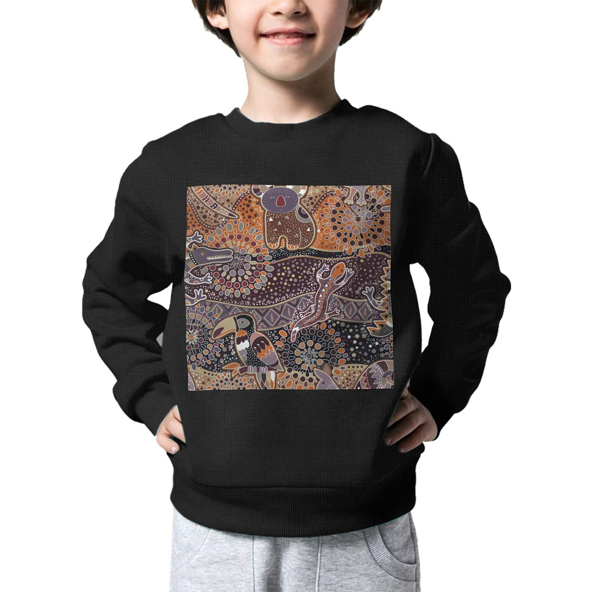 BaPaLa Crocodile Boys Pullover Sweater Funny Crew Neck Knitted Sweater for 2-6T