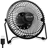OPOLAR Whisper Quiet Desk Fan, Maximal 40db, USB Powered Only, Metal Housing, 360 Degree Rotation, Perfect Table Personal Fan, Mini Cooling Fan for Home and Office and Dorm