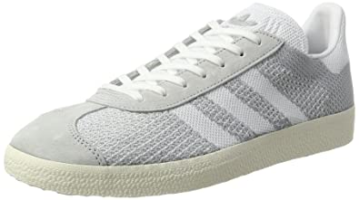 Mens Gazelle Primeknit Low-Top Sneakers, Grey (Sesame/Off White/Trace Green), 5.5 UK adidas