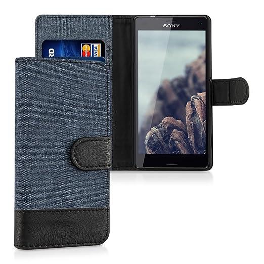 4 opinioni per kwmobile Custodia portafoglio per Sony Xperia Z3 Compact- Cover in simil pelle a