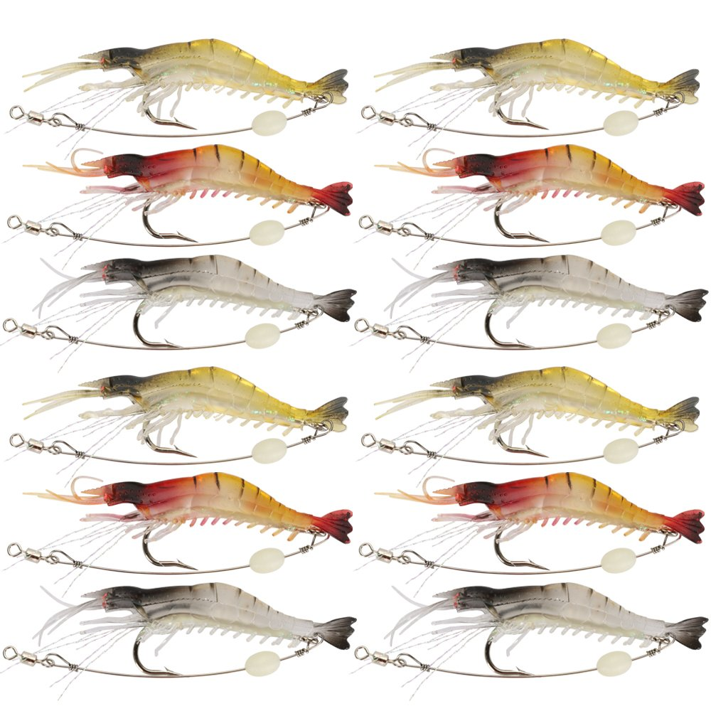 Freshwater fish bait - Amazon Com Shelure Soft Lures Shrimp Bait Set Kit Lots For Freshwater Trout Bass Salmon Sports Outdoors