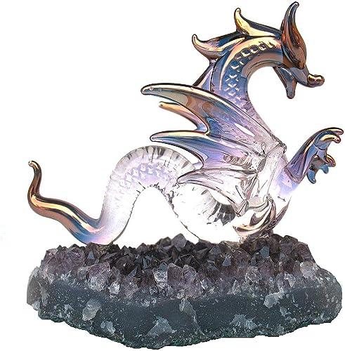 Prochaska Gallery Hand Blown Glass Dragon Serpent Figurine