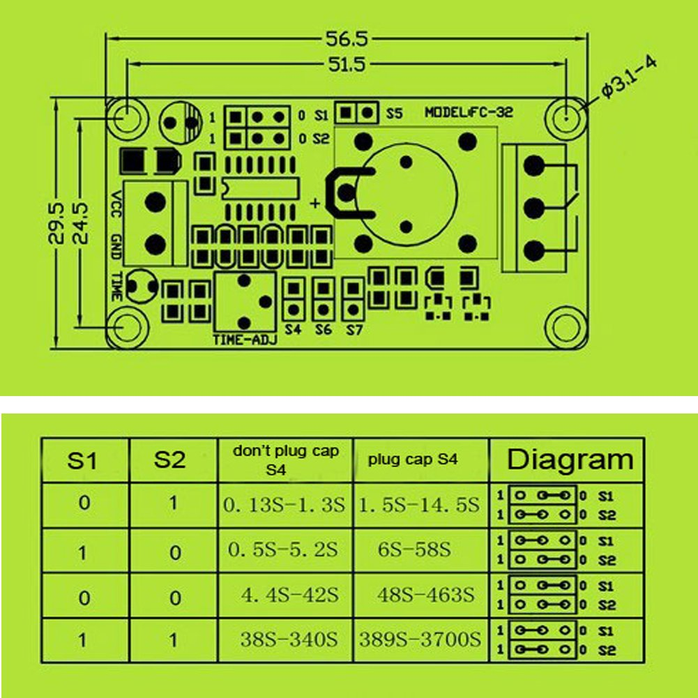 Geree On Off Delay Relay Module 12v Automotive Lm555 Electronics Schematic Diagram Two Stage Time Circuit Part 29