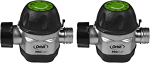 Orbit High Flow Metal Mechanical Garden Faucet Watering Hose Timer (2 Pack)