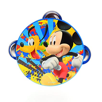 amazon com disney mickey mouse kids tambourine educational musical