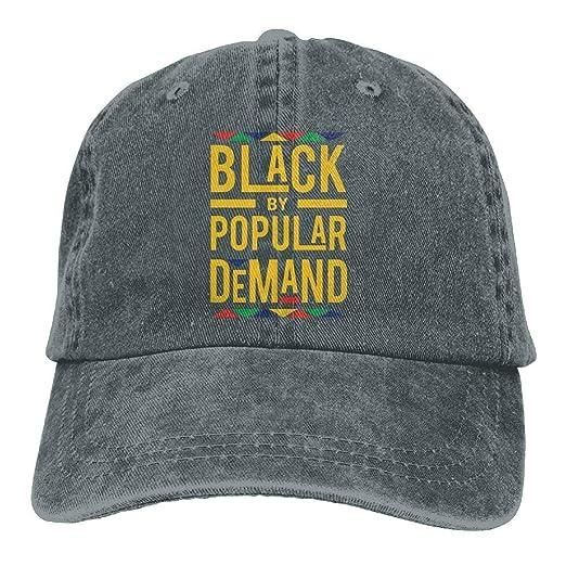 Unisex Adjustable Black by Popular Demand Denim Caps Baseball Dad Hats Bill  Trucker Cap Cowboy Sun 94ec180c274