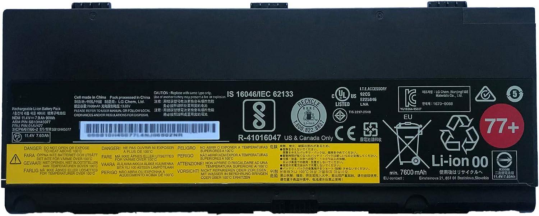 SUNNEAR 01AV477 SB10H45077 11.4V 90Wh 7900mAh Laptop Battery Replacement for Lenovo ThinkPad P50 P51 P52 Series Notebook 77+ 00NY492 00NY493 SB10H45078