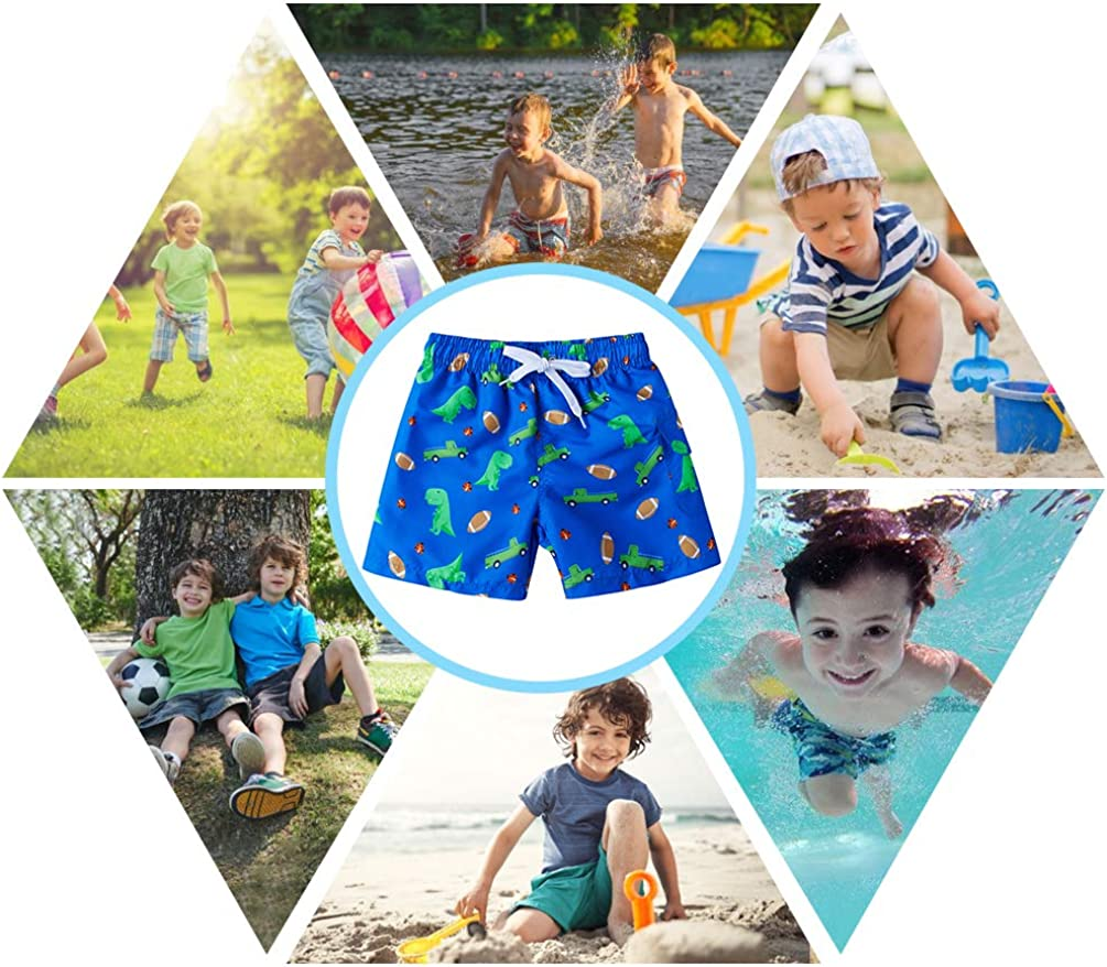 Vogeek Cool Bambini Ragazzi Surf Pantaloncini Stampati 3D Divertenti Tronchi da Bagno Quick Dry Beachwear Sport Running Swim Board Shorts 4-10T