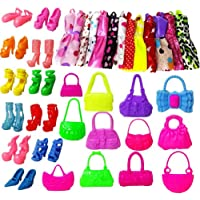 FnieYxiu Educational Toys, 30Pcs Kids Children Girl Toy Play House Doll Clothes Skirt Bags Heels Shoes Gift