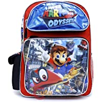 "Limited Super Mario Large School Backpack 16"" Boys Book Bag Mario Odyssey"