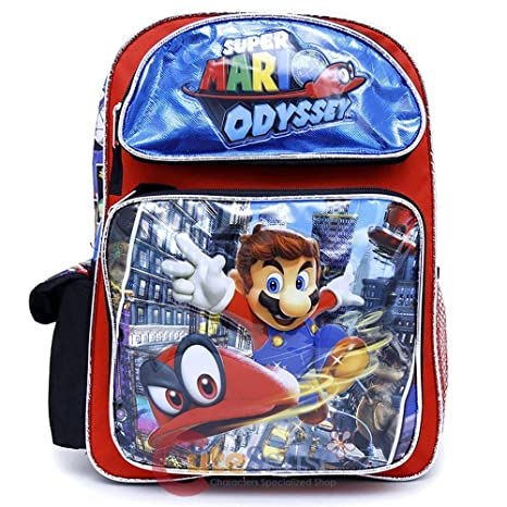 e498dc348b8 Amazon.com   Limited Super Mario Large School Backpack 16